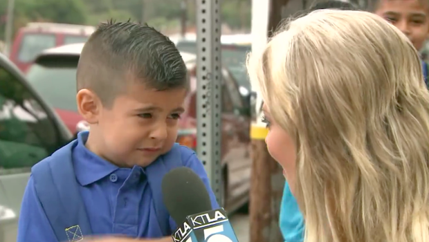 TV reporter makes pre-K student cry on first day of school