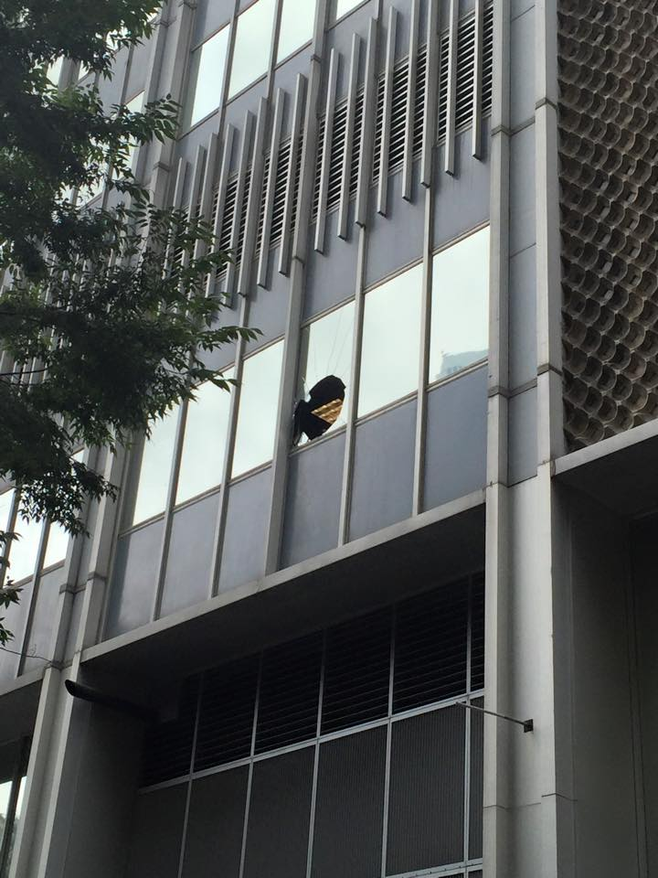 GEORGIA -- An unidentified black male in his 20s jumped from a window at the Fulton County Pre-Trial Services Office Tuesday morning in downtown Atlanta.