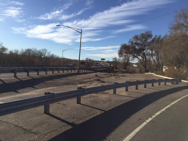 COLORADO SPRINGS -- Colorado State Police have confiscated an improvised explosive device, or IED, from a man seen walking along the Highway 50 bypass Monday afternoon.