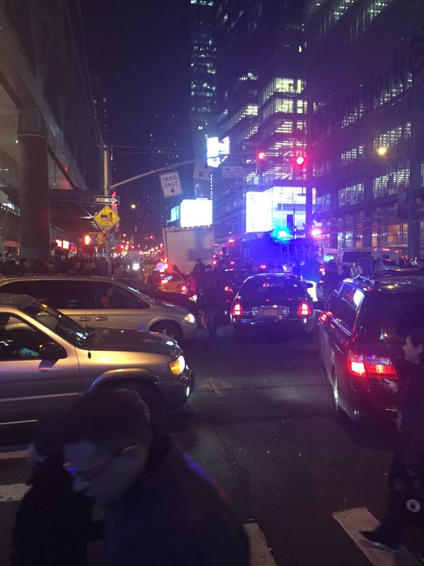 Portion of Port Authority Bus Terminal in Manhattan evacuated due to suspicious package. This comes on busiest travel day.
