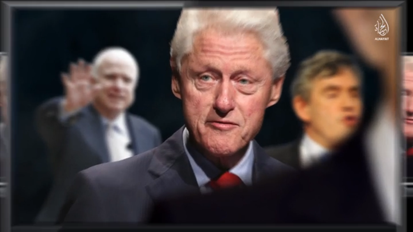 """In the latest propaganda video put out by the Islamic State terror group calls Bill Clinton a """"fornicator"""" and George W. Bush a """"liar."""" English speaking"""