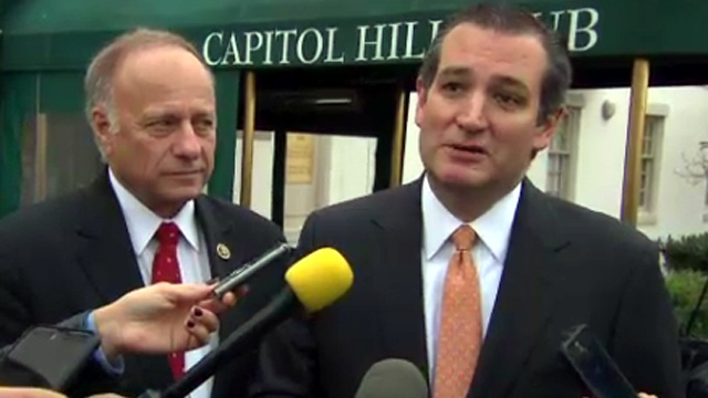 GOP Senator Ted Cruz this morning went all 'say-it-to-my-face' on the President and challenged Obama to a debate over Syrian refugees, lashing out at Obama over his Tuesday remarks.