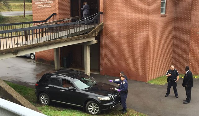 NASHVILLE, Tennessee -- Police responded to a shots fired call outside of the Greater Grace Temple Community Church at 901 Dalebrook Ln Sunday morning.