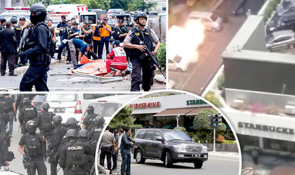 explosions Jakarta