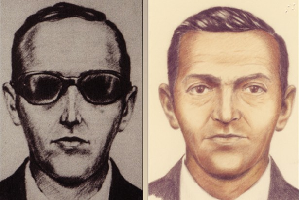 Artist sketches released by the FBI of a man calling himself D.B. Cooper
