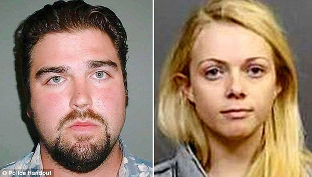 Charged: Daniel Wozniak (left) was arrested in 2010 as the prime suspect in the murders of two acquaintances but now police have charged his fiancee Rachel Buffett (right) as an accessory / DailyMail