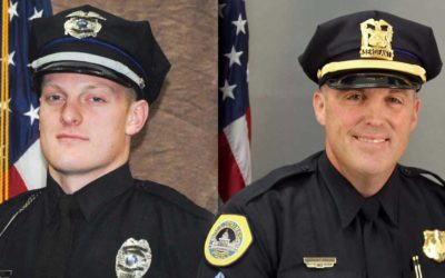 Urbandale Officer Justin martin (left) and Des Moines Sergeant Tony Beminio (right) / Blue Lives Matter