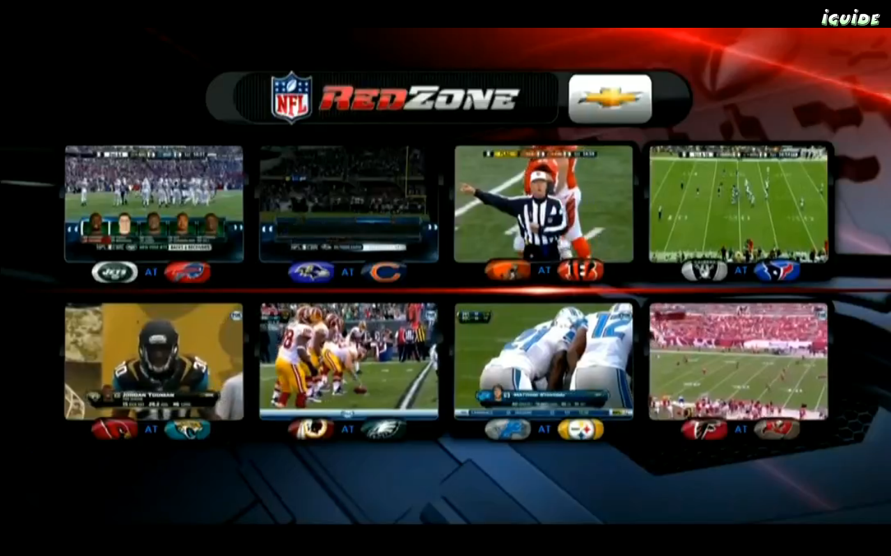 what channel is nfl network redzone on directv
