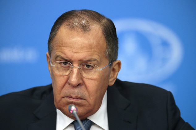 Russian Foreign Minister Sergey Lavrov listens to a question during his annual roundup news conference summing up his ministry's work in 2016, in Moscow, Russia, Tuesday, Jan. 17, 2017. Lavrov said Russia hopes new U.S. administration will be represented at the Syria talks in Astana, Kazakhstan. (AP Photo/Ivan Sekretarev)