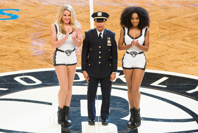 BROOKLYN, NY - January 6: SW24 Hero of the Game during game between the Cleveland Cavaliers and Brooklyn Nets on January 6, 2017. at Barclays Center, Brooklyn, New York.  (Photo by Mike Lawrence)