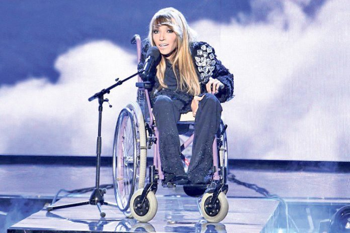 Image result for russian eurovision wheel chair