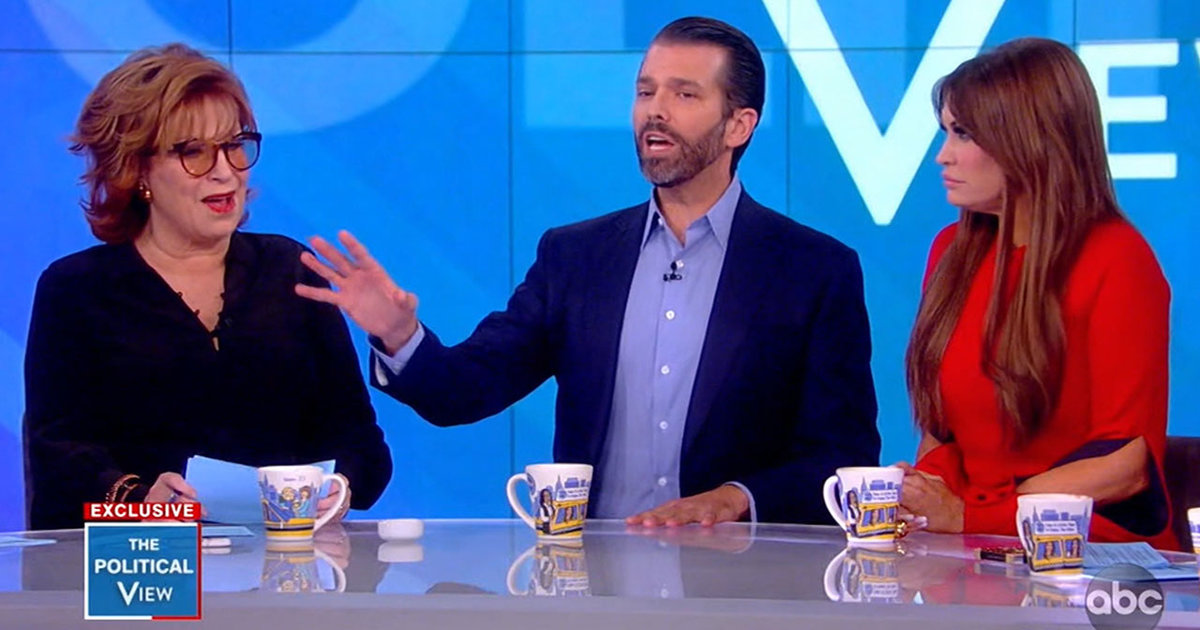 "Donald Trump Jr. Spars With ABC's ""The View"" Hosts On ..."